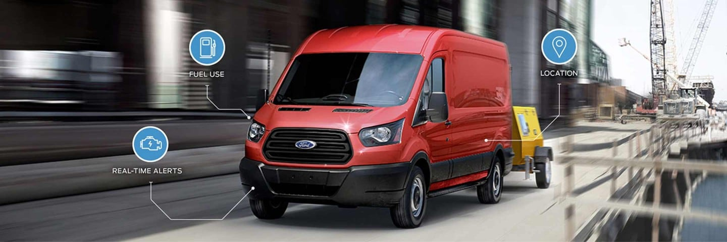 Ford Commercial Solution Data Service Red Transit Van